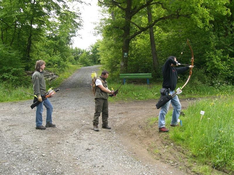 Bogenschützen in freier Wildbahn