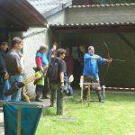Bogenschützen am Schützenhaus